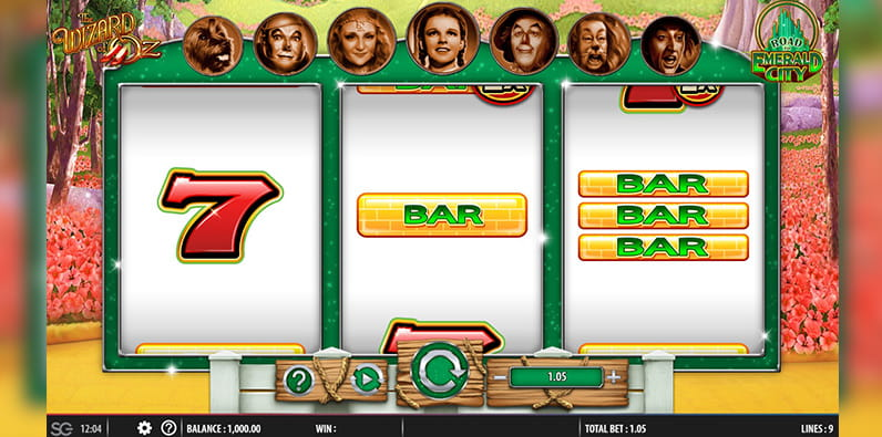 The Wizard of Oz Road to Emerald City Slot